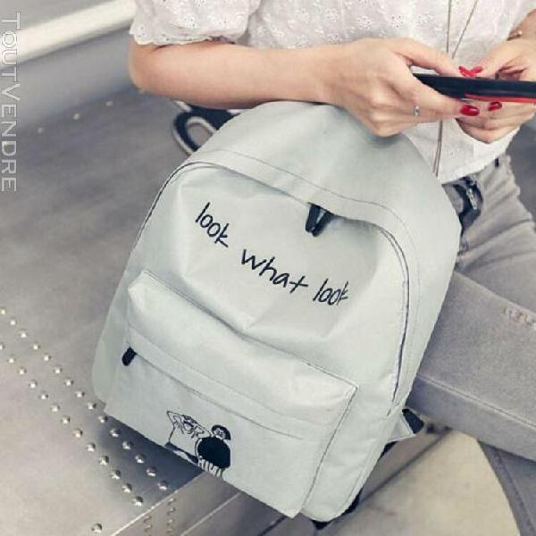 Fille garçon sac d'école sac à dos en toile voyage