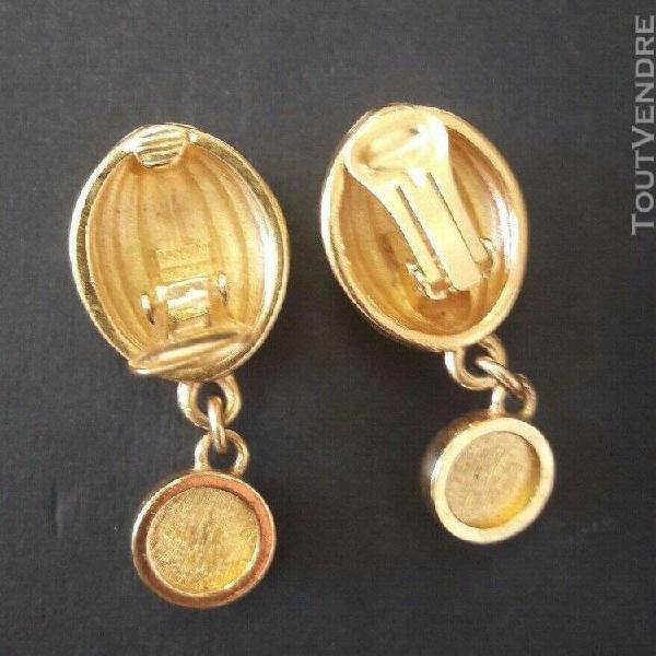 Lanvin vintage très belles boucles clips pendantes