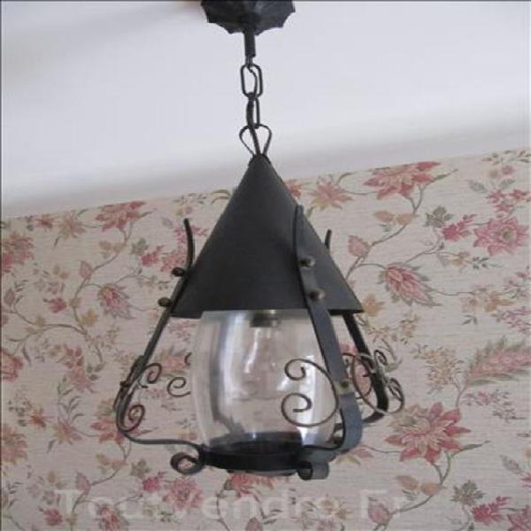 Luminaire /lanterne métalique années 70