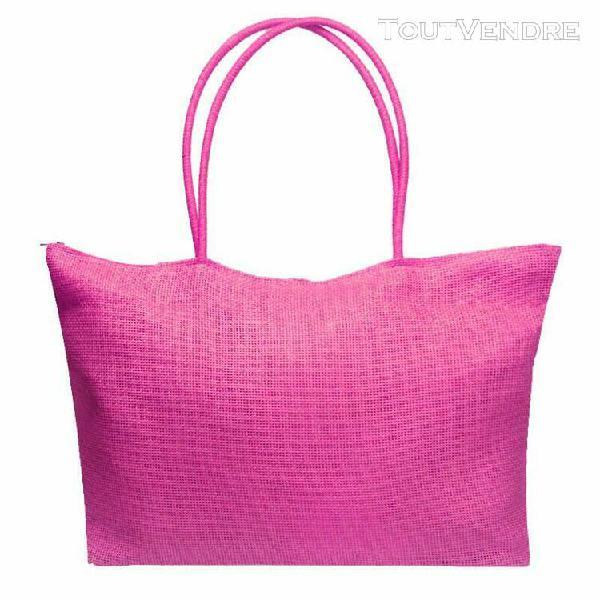 Simple bonbons couleur grand sacs de paille de plage femmes