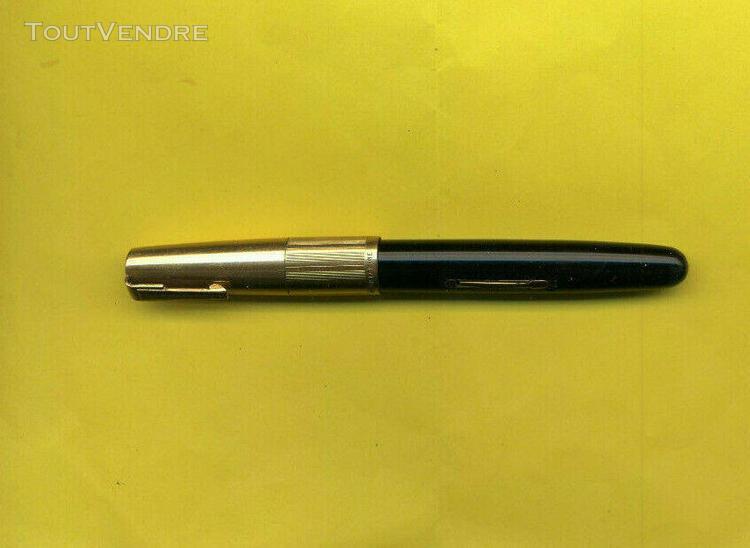 Stylo plume waterman's ideal double or laminé à pompe
