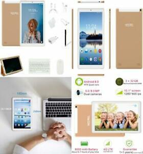 Tablette tactile 10 pouces android 8.0 tablettes avec 3 go