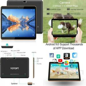 Yotopt 10.1 pouces tablette tactile - 3g/wifi, android 9.0,