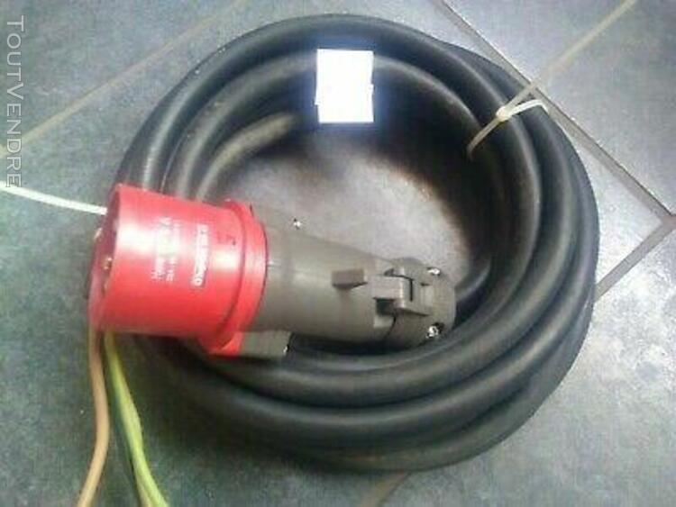 Cable d'alimentation 5m 4g 6mm2 souple + pc 32amp 6h 4 pol