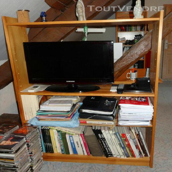 Ensemble mobilier bureau, tv/bibliothèque, bureau, bois