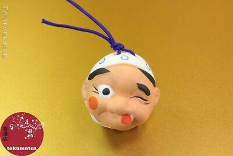 Fairy tales japanese clay bell cloche porte-bonheur made in