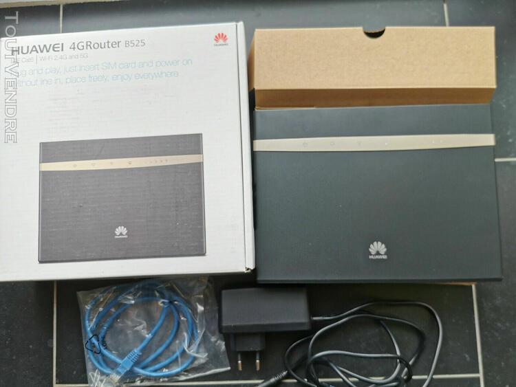 Modem routeur 4g+lte huawei b525s-23a noir servi 1 mois