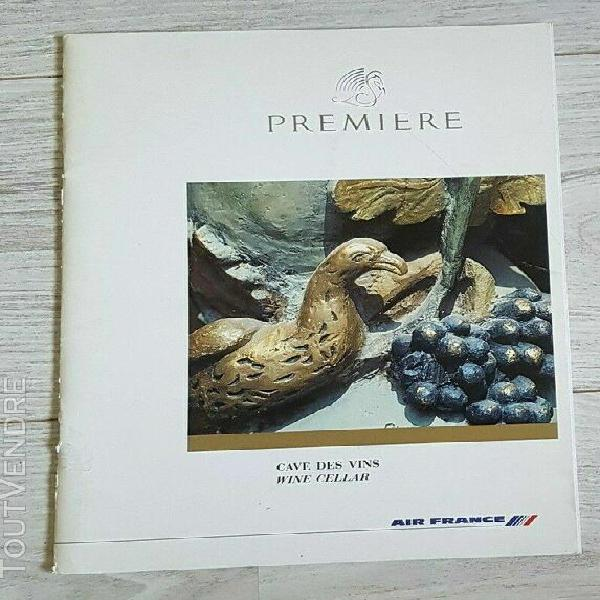 carte des vins air france