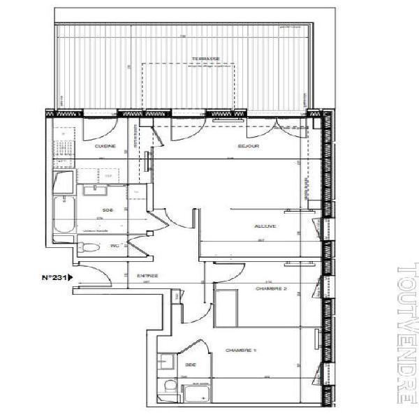 Fontenay sous bois: 3 pièces terrasse