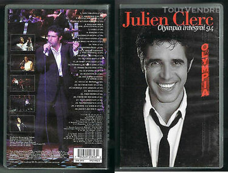 Julien clerc - vhs - olympia intégral 1994 – 30 titres