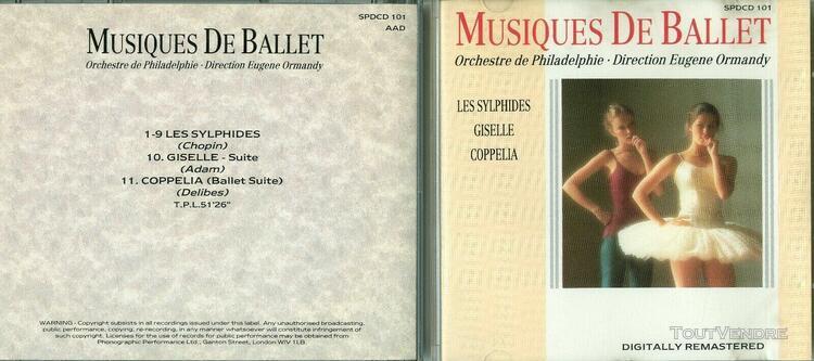 Musiques de ballet - les sylphides, giselle et coppelia