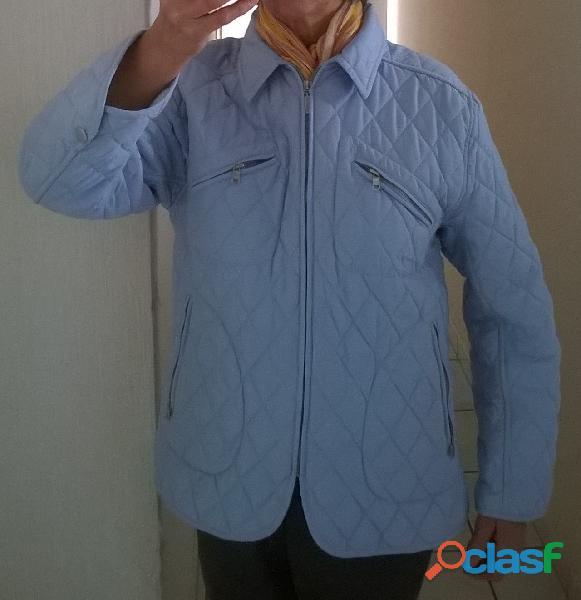Veste matelassée bleu clair Antonelle taille 42 fermeture par un zip