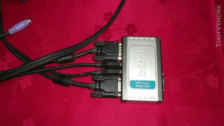 D-link dkvm - 2ku kit mini‑switch kvm avec port usb pour 2