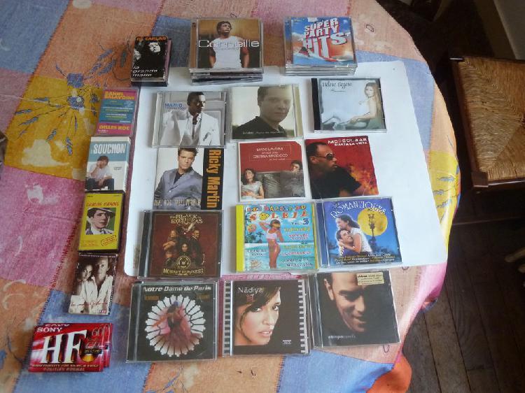 lot d'une quarantaine de cd & disques récents et ancien