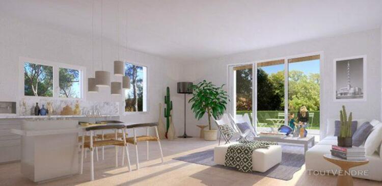 T4 de 80,63 m² avec terrasse de 19,82 m² et espace vert