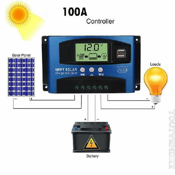 100a mppt panneau solaire régulateur de charge contrôleur
