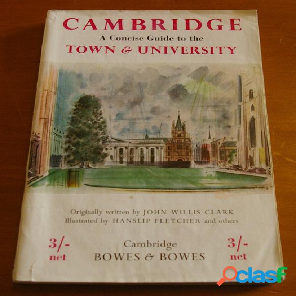 Cambridge a concise guide to the town and university