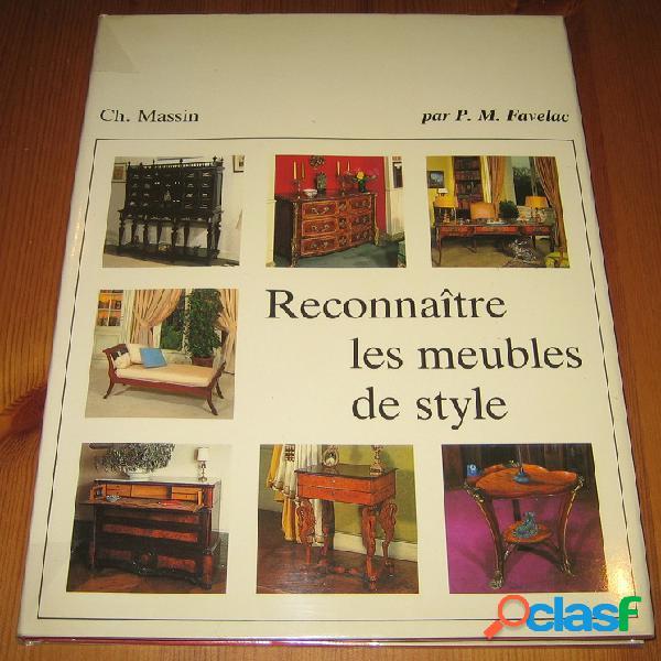 Reconnaître les meubles de style, P.M. Favelac