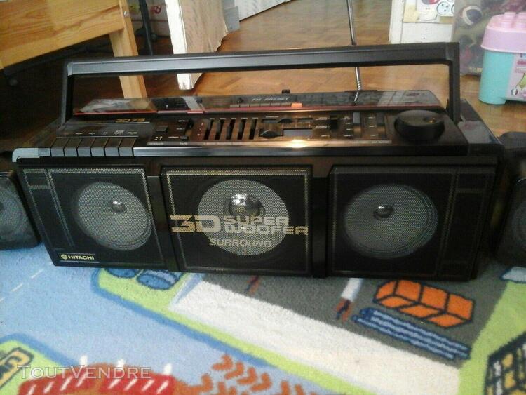 Hitachi trk 3d75 super woofer radio cassette bluetooth boomb