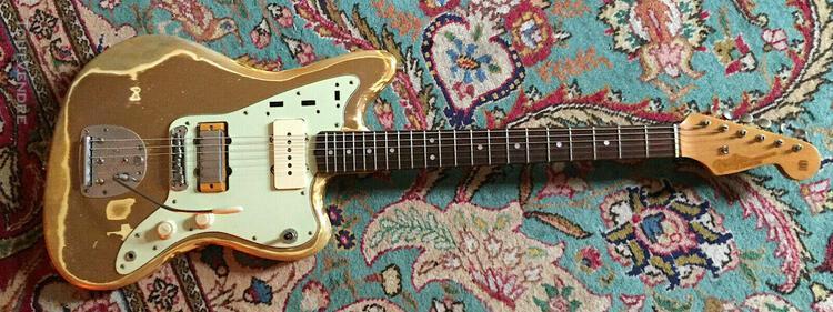 Rare 1963 fender jazzmaster shoreline gold custom color rel