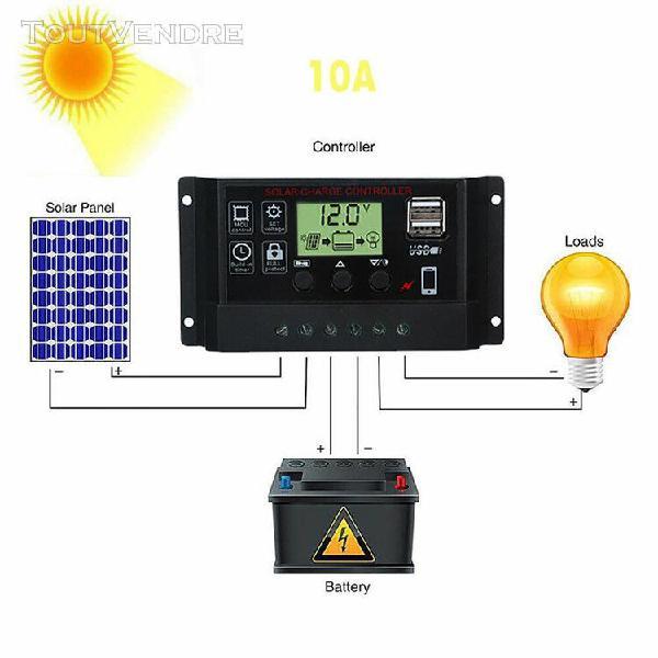 Régulateur contrôleur de charge panneau solaire usb 10a