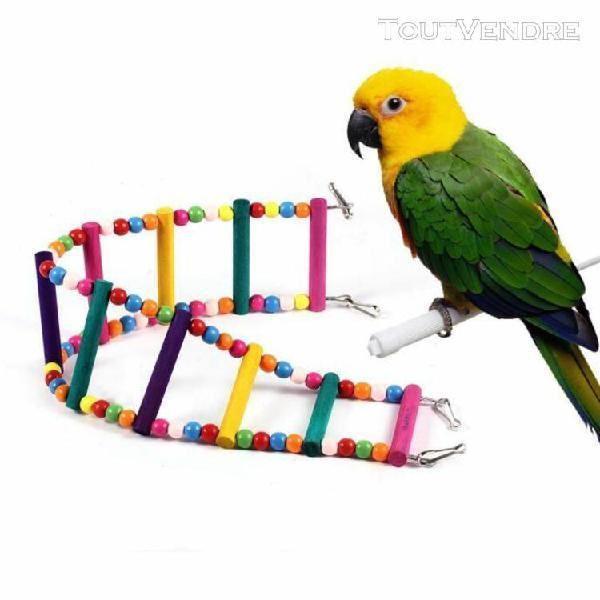 10 couche perroquets oiseaux échelle flexible pont tournant
