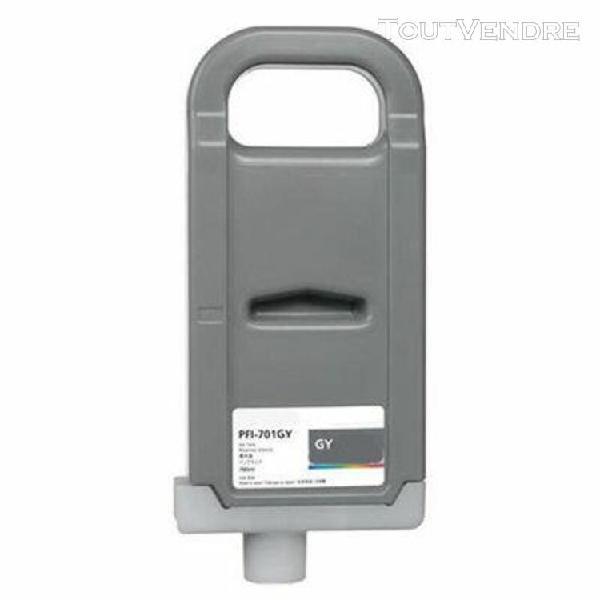 cartouche compatible canon 0909b001 pfi-701 gris