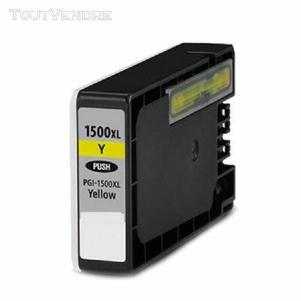 cartouche compatible canon 9195b001 pgi1500xly jaune