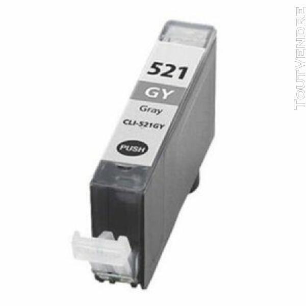cartouche compatible canon cli-521gy gris