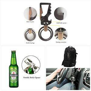Ho2nle 2pcs hommes porte-clés voiture mousqueton porte clé