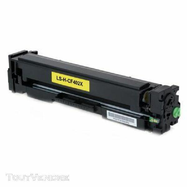 toner compatible hp cf402x jaune