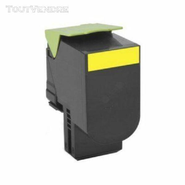 toner compatible lexmark 80c2sy0 jaune