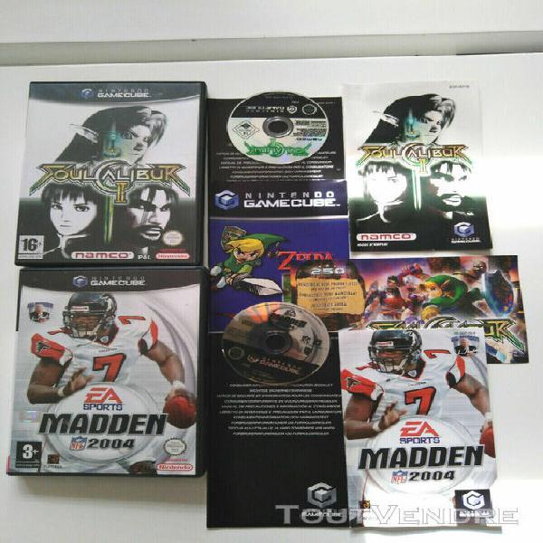 2 jeux nintendo game cube soulcalibur et madden 2004