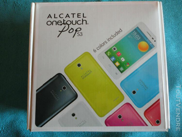 Alcatel one touch pop s3 5050x - plus 5 coques - débloqué