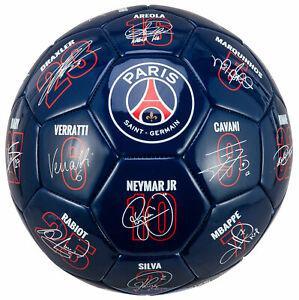 Ballon psg - signatures des joueurs - collection officielle