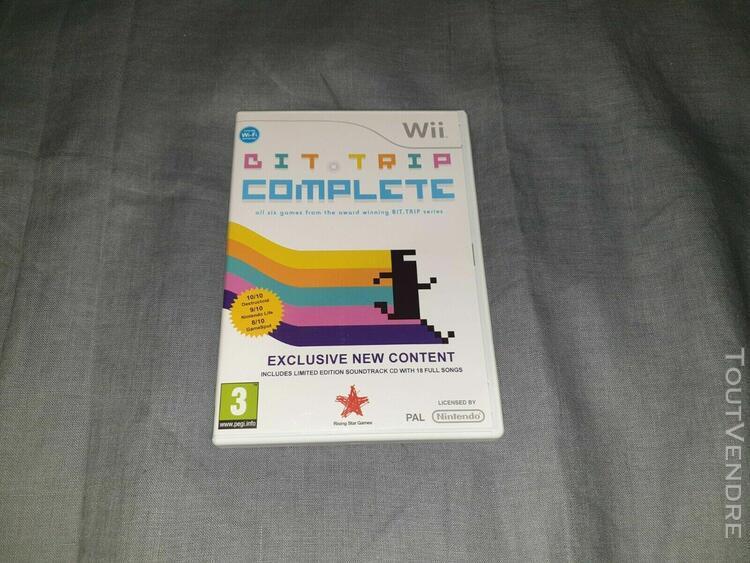 Bit.trip complete wii pal uk complet tbe / cib vgc w/ ost
