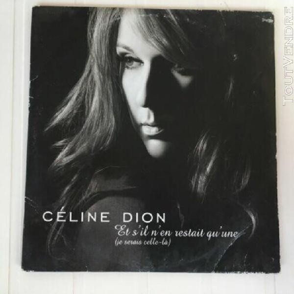 Céline dion et s'il n'en restait qu'une cd 3 titres neuf