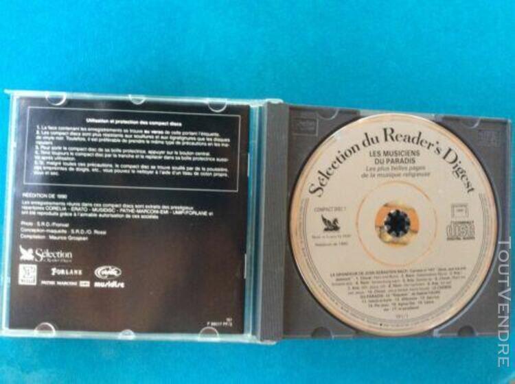 """Coffret 5 cd """"les musiciens du paradis"""" reader's digest, rar"""