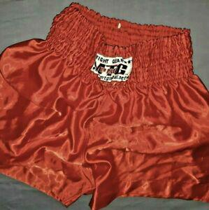 Fight gear mtg pro shiny muay thai kick boxing short nylon
