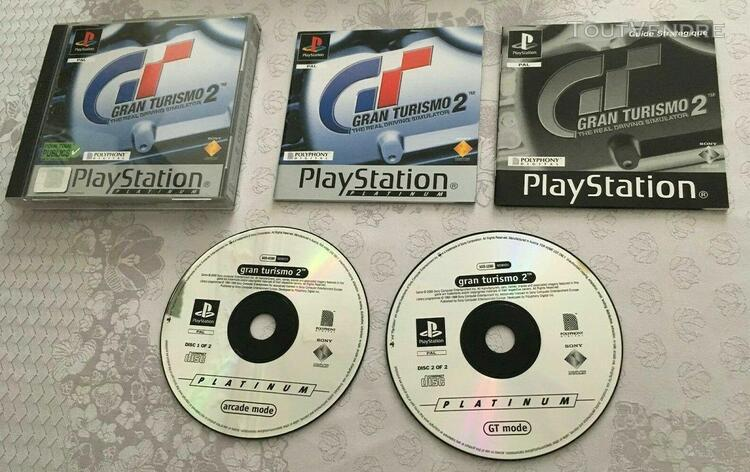 Jeu gran turismo 2 playstation ps ps1 platinum pal complet