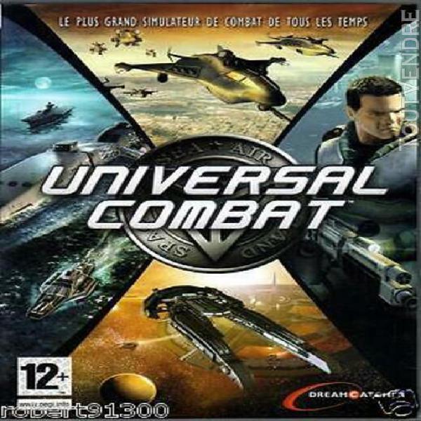 Jeu pc cd rom.../....universal combat.../...collector.....