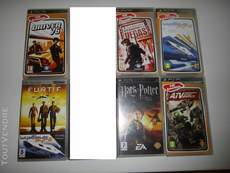 Lot 5 jeux + 1 film psp