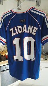 Maillot collector foot france 98 zidane neuf