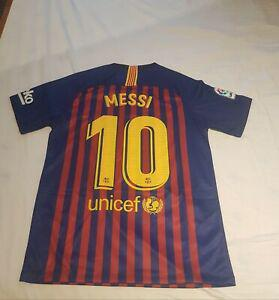 Maillot fc barcelone messi 18/19 s neuf