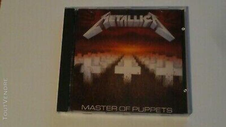 Metallica cd master of puppets hard rock metal group ave