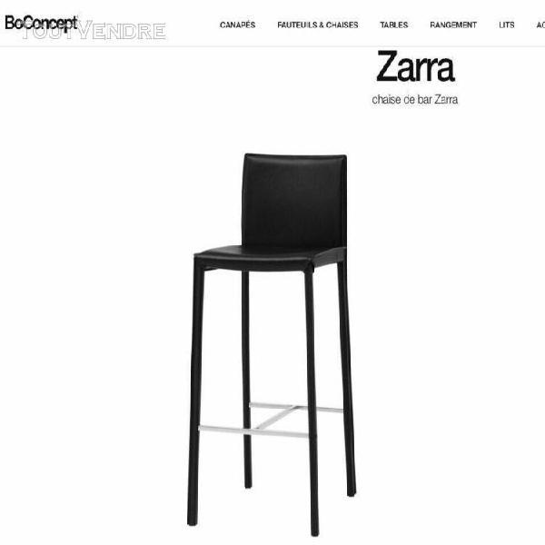 4 chaises de bar bo concept modèle zarra (état neuf)