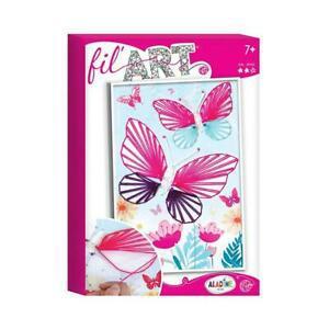 Aladine - fil'art papillon - kit activités manuelles pour