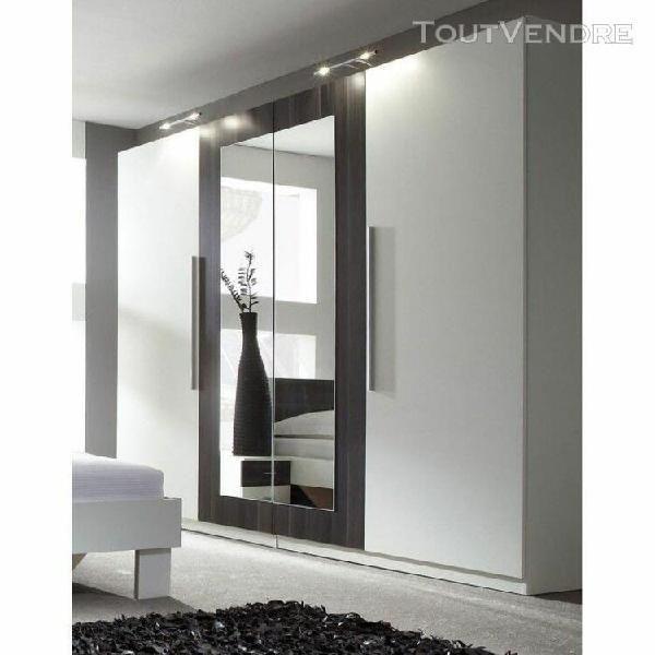 armoire 4 portes vero white coimbra