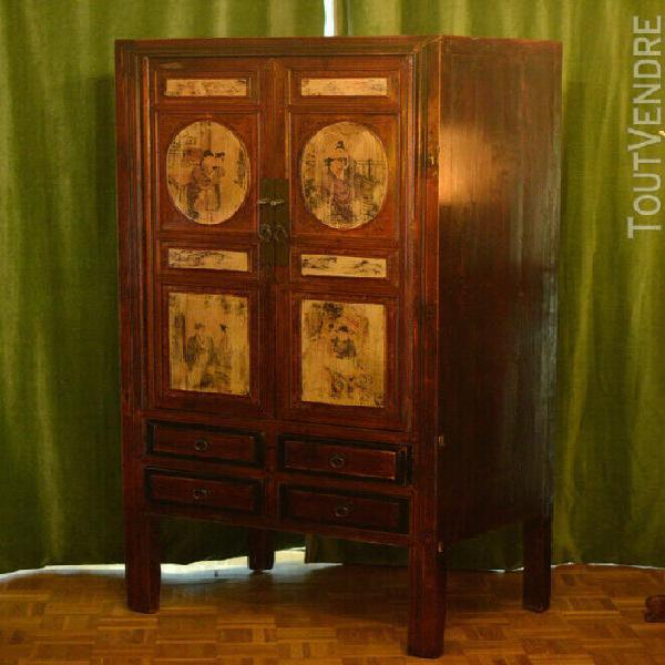 armoire chinoise ancienne peinte