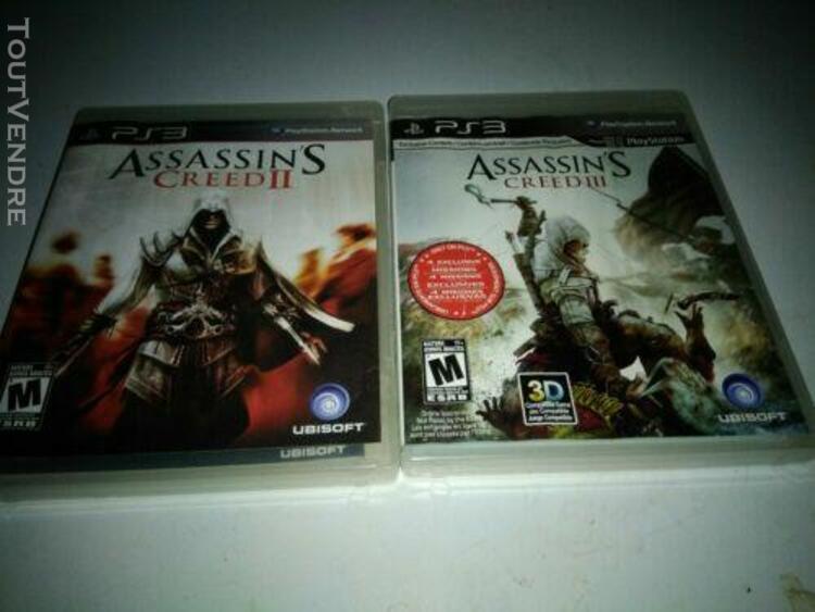 Assassins creed 2 et 3 - lot jeux ps3